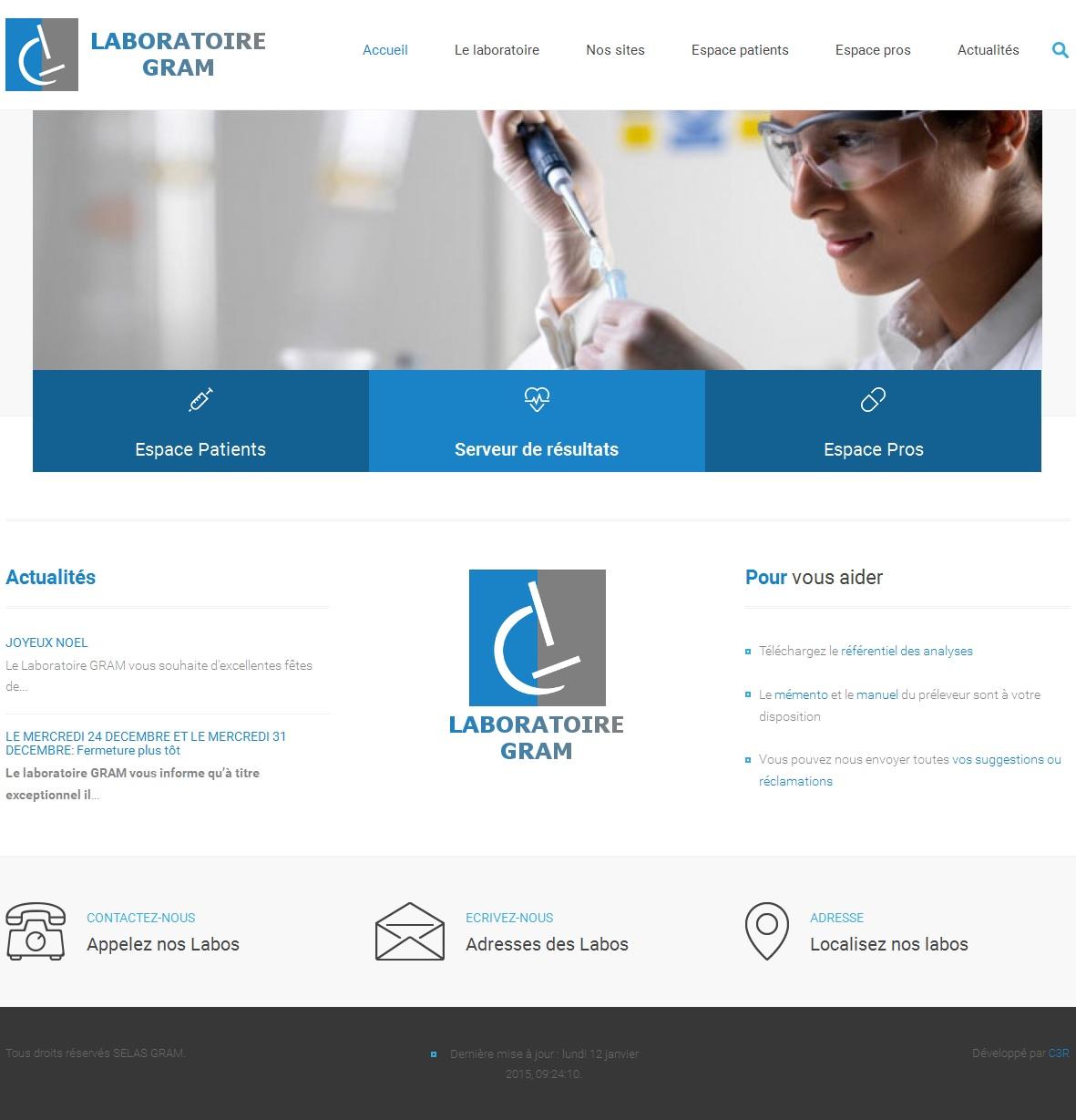 R f rences sites internet web marseille c3r for Laboratoire d analyse salon de provence